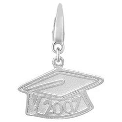 Sterling Silver 2007 Graduation Cap Charm