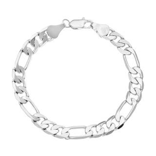 Simon Frank 14k White Gold Overlay 8-inch Figaro Chain Bracelet|https://ak1.ostkcdn.com/images/products/3469654/Simon-Frank-14k-White-Gold-Overlay-8-inch-Figaro-Chain-Bracelet-P11541404.jpg?impolicy=medium