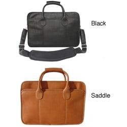 Piel Top Grain Leather Simple Portfolio Briefcase