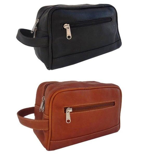 Piel Leather Top Grain Top-zip Toiletry Kit
