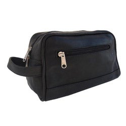 Piel Leather Top Grain Top-zip Toiletry Kit