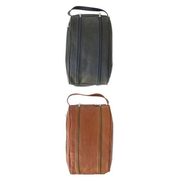 Piel Top Grain Leather Shoe Travel Bag