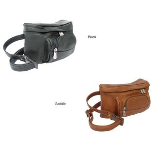Piel Luggage Top Grain Leather Carry-all Waist Bag (Option: Brown)
