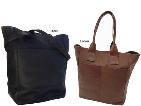 Piel Leather Women's Top Grain Shopping Tote Bag