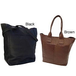 Piel Leather Women's Top Grain Shopping Tote Bag