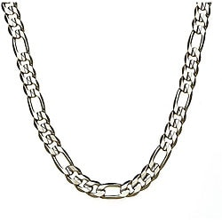 Simon Frank 14k White Gold Overlay 20-inch Figaro Necklace