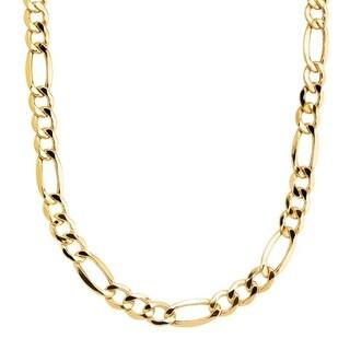 "Simon Frank Designs 20""-Inch 10mm Figaro Gold Overlay Chain (20-inch)"