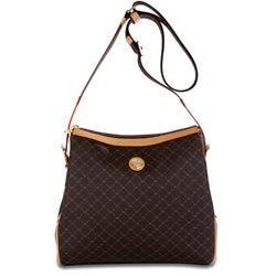 Rioni Signature Zip-top Messenger Handbag