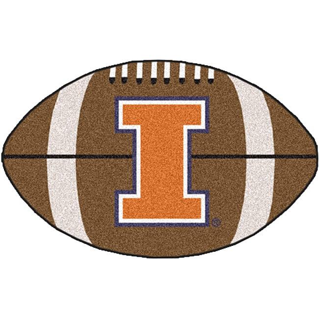 Fanmats NCAA University of Illinois Football Mat (22 x 35)