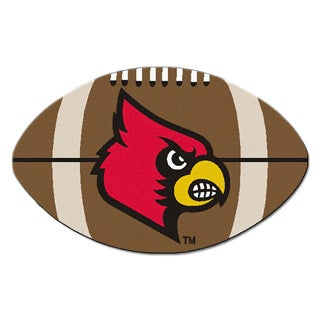 Fanmats NCAA University of Louisville Football-shaped Mat