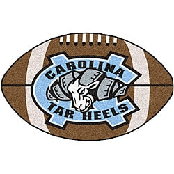 Fanmats NCAA University of North Carolina Football-shaped Mat