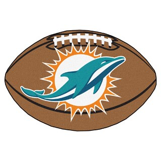 Fanmats NFL Miami Dolphins 22x35-inch Football Mat