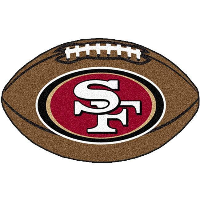 Fanmats NFL San Francisco 49ers 22x35-inch Football Mat