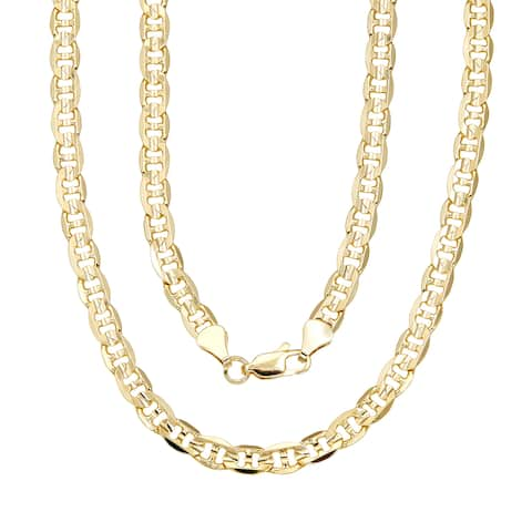 "6mm Gucci-style (Mariner) Gold Overlay Chain (18-Inch) - 18"" x 6mm"