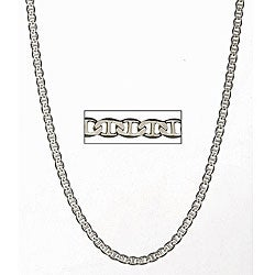 Simon Frank 14k White Gold Overlay 18-inch Gucci-style Necklace