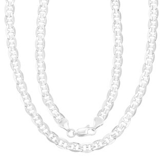 Simon Frank 14k White Gold Overlay 20-inch Gucci-style Necklace