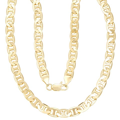 Simon Frank Yellow Gold Overlay 20-inch Gucci-style (Mariner) Necklace