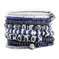Handmade Ten Turn Bone and Bead Bracelet (India)