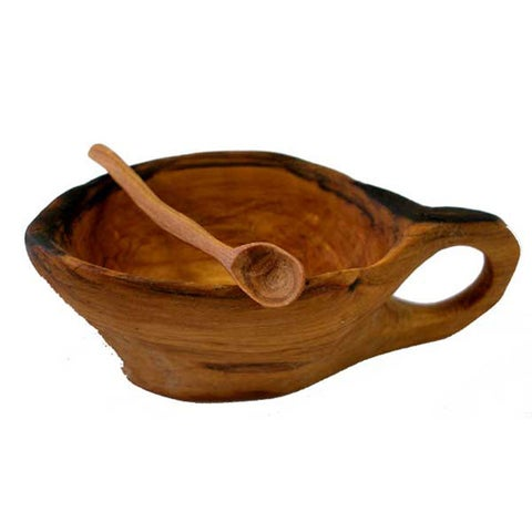 Handmade Miniature Olive Wood Spice Bowl (Kenya)
