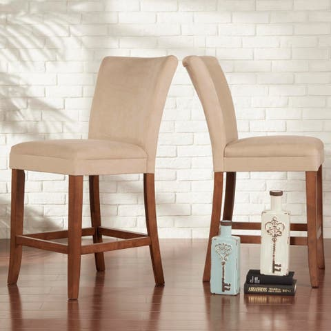 Parson Classic Upholstered Counter Height High Back Chairs (Set of 2) by iNSPIRE Q Bold