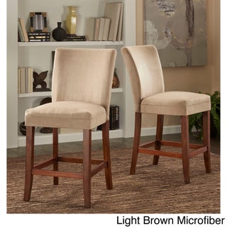 Parson Classic Upholstered Counter Height High Back Chairs (Set of 2) by iNSPIRE Q Bold (3 options available)