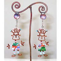 Handmade Recycled 'African Spirit' Earrings (Africa)