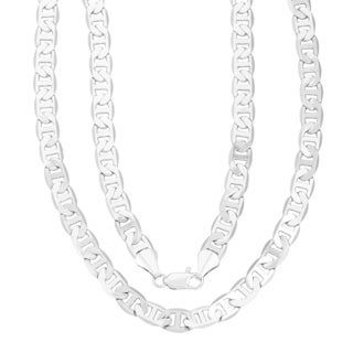 Simon Frank 14k White Gold Overlay 24-inch Gucci-style Necklace