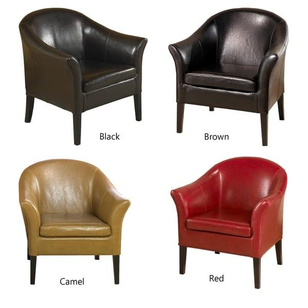 Bicast Leather Club Chair