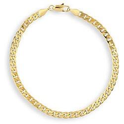 Simon Frank 14k Yellow Gold Overlay 8-inch Cuban-style Bracelet