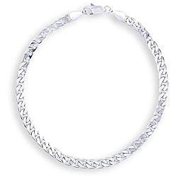 Simon Frank 14k White Gold Overlay 8-inch Cuban-style Bracelet