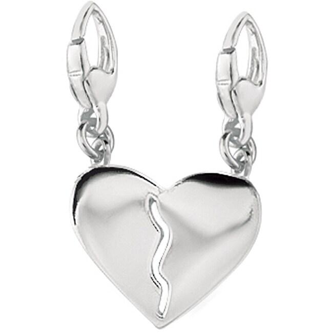 Sterling Silver Break-away Heart Charm