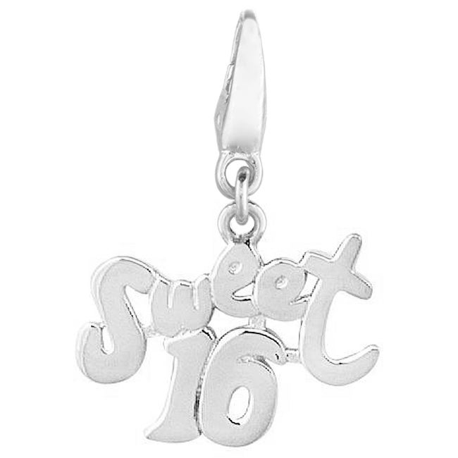 Sterling Silver 'Sweet 16' Charm