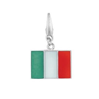 Sterling Silver and Enamel Italian Flag Charm