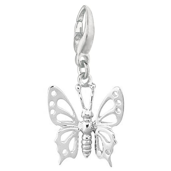 f33cb12cc Shop Sterling Silver Butterfly Charm - Free Shipping On Orders Over $45 -  Overstock - 3474117
