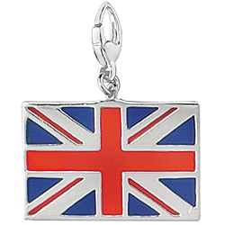 Sterling Silver Enamel British Flag Charm