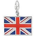 Sterling Silver Enamel British Flag Charm