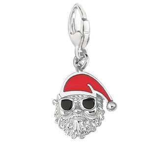 Sterling Silver Santa with Sunglasses Charm