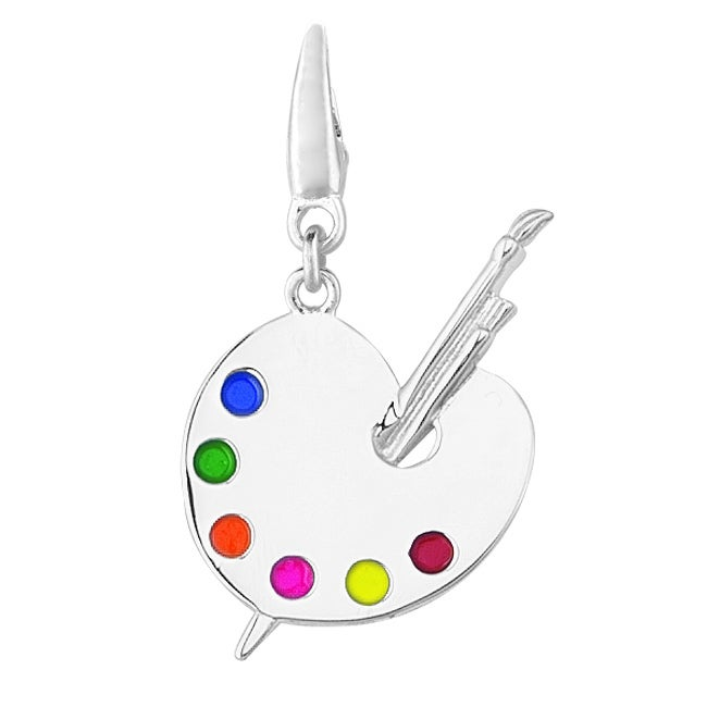 Sterling Silver Artist Pallet Charm
