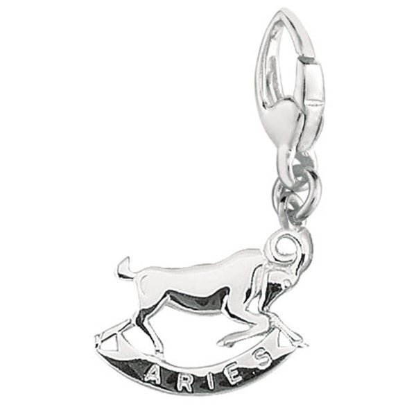 Sterling Silver Aries Astrology Charm