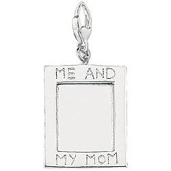 Sterling Silver 'Me and My Mom' Picture Frame Charm