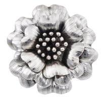 Handmade Sterling Silver 'Queen Zinnia' Ring (Thailand)