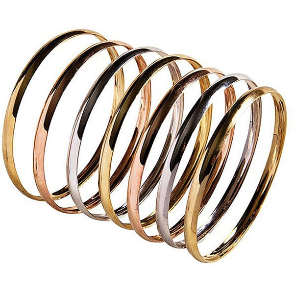 c758dcc1b2349 Shop Nexte 14k Tri-tone Gold Stackable Overlay 'Semanario' Bangle ...