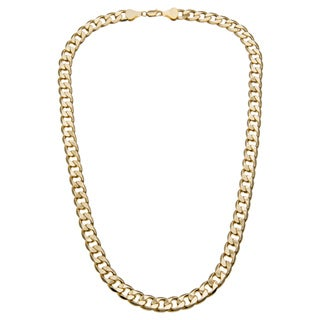 Simon Frank Designs 12mm Cuban Silver Overlay Necklace (36-inch)