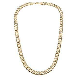 Simon Frank Designs 12mm Cuban Silver Overlay Necklace (36-inch)