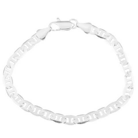 Mariner Style Yellow/Silver Overlay 8-inch Bracelet by Simon Frank Designs