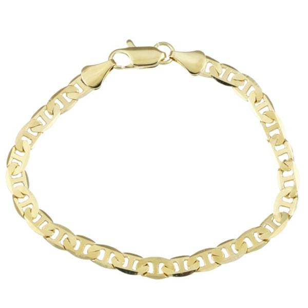 Simon Frank Yellow Gold or Silver Overlay 8-inch Bracelet W/Lobster Claw Clasp