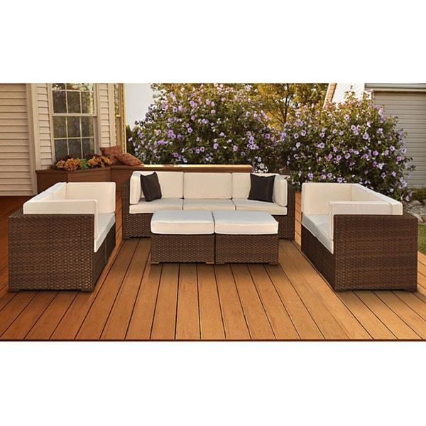 Atlantic Patio Furniture Reviews: Shop Atlantic Firenze 9-piece Wicker Furniture Set