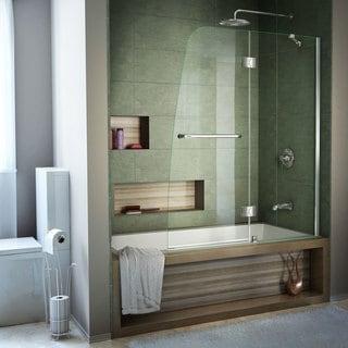 DreamLine Aqua 48 in. Frameless Hinged Tub Door