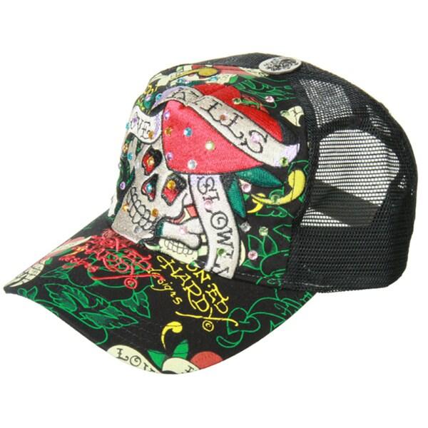 70fa1eafdb0 Shop Ed Hardy Men s  Love Kills Slowly  Rhinestone Hat - Free ...