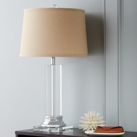 Clay Alder Crystal Column Table Lamp with Tan Shade